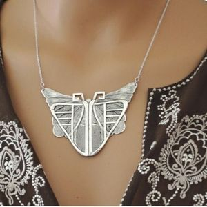 Vintage Art Deco Style Morph Butterfly Necklace
